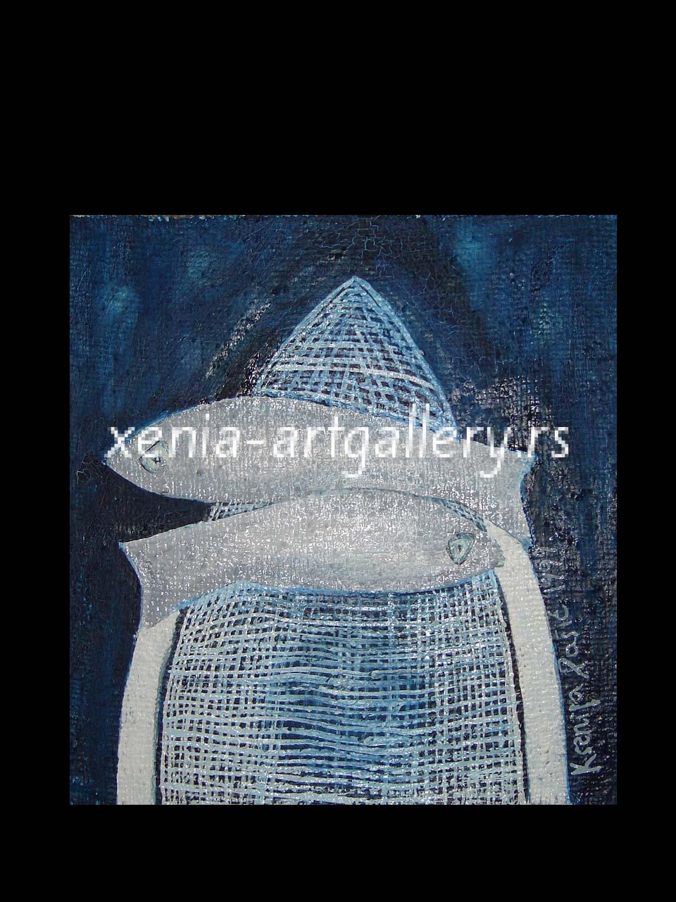 10 Fish, oil, canvas 30x30cm