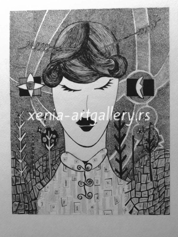 10 Mioko, india ink, paper 17x22 cm