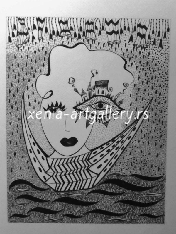 11 Navigara, india ink, paper 17x22 cm