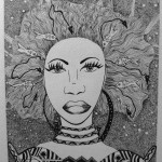 13 Merla, india ink, paper 17x22 cm