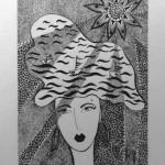 2 Xsea, india ink, paper 12x18 cm