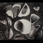 5 Drawing,India ink, charcoal 63x85 cm