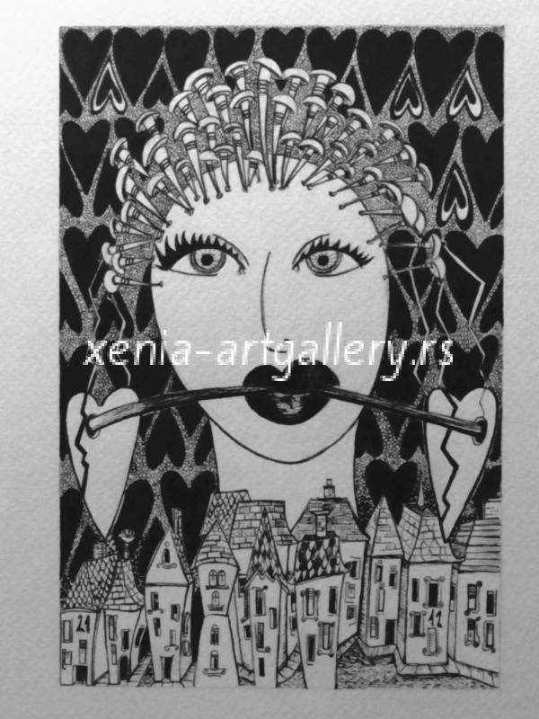 8 Heartina, india ink, paper 12x18 cm