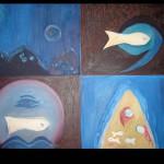 9 Fish, oil, canvas 70x100cm