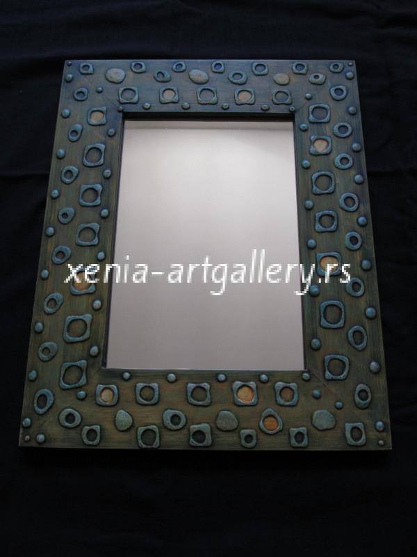 13 Wooden frame, combined technique, oil 40x32 cm
