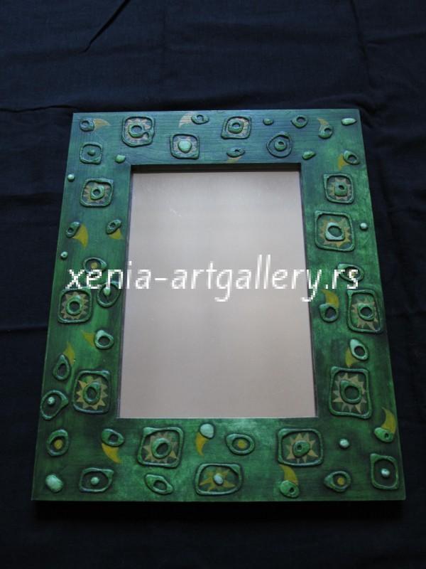 19 Wooden frame, combined technique, oil 40x32 cm