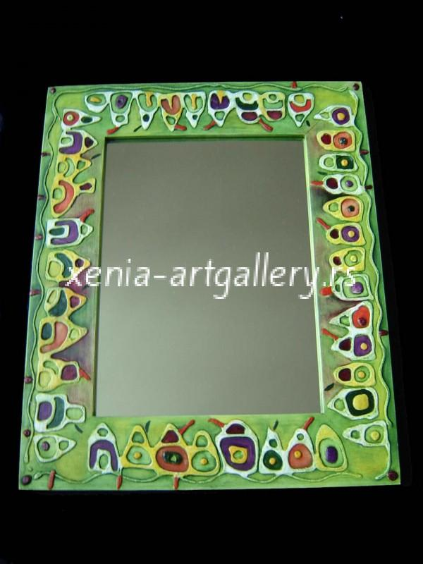 7 Wooden frame, combined technique, oil 44x36 cm