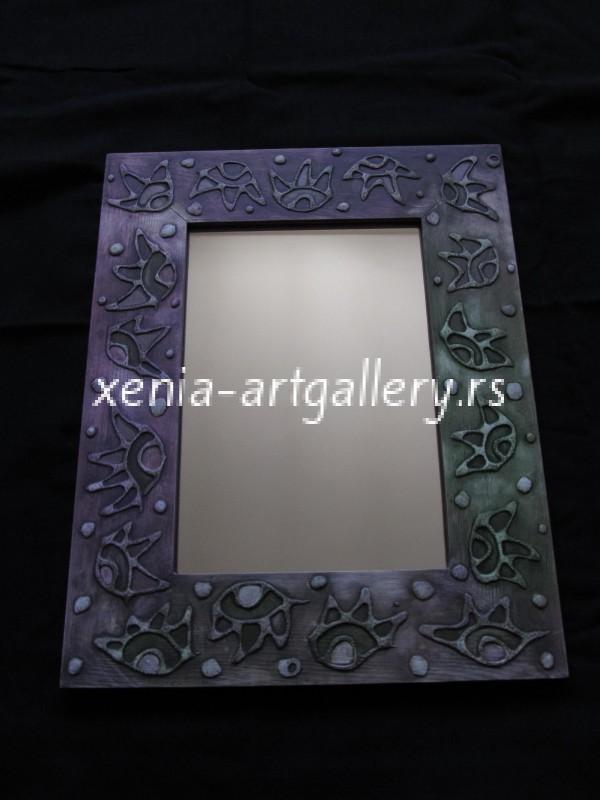 9 Wooden frame, combined technique, oil 40x32 cm