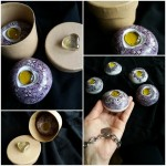 12 modelling material, paint for porcelain, 6x6x4 cm