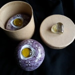 15 modelling material, paint for porcelain, 6x6x4 cm